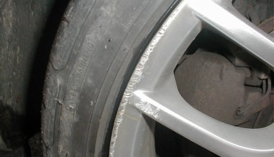 Kerbed Alloy Wheel repairs