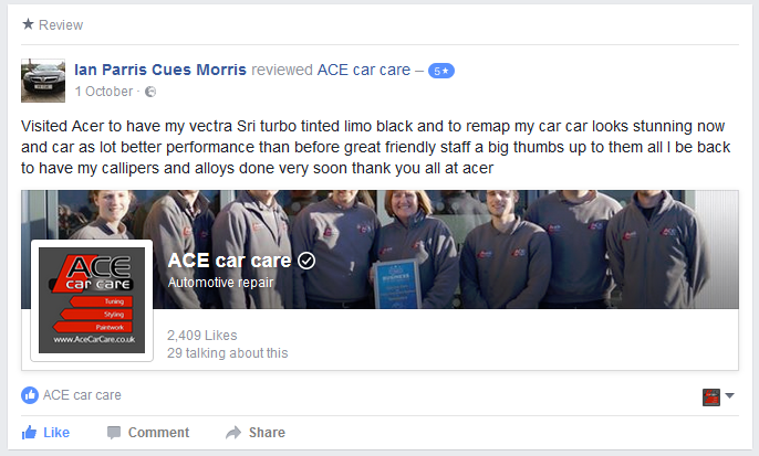 Ace Car Care Review Ian Morris